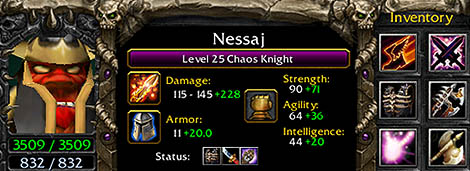 Nessaj - The Chaos Knight